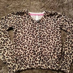 Girls Leopard Cherokee Cardigan Sweater Medium 7 8